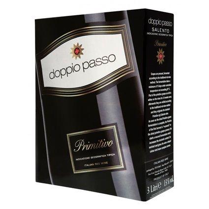 DOPPIO PASSO SALENTO PRIMITIVO 13 % Bag in Box 3 Liter