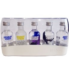 Absolut Five Mini Vodka 40% vol. 5x 50ml